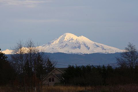 Mt Baker view from Lummi Island by DV Bailey
