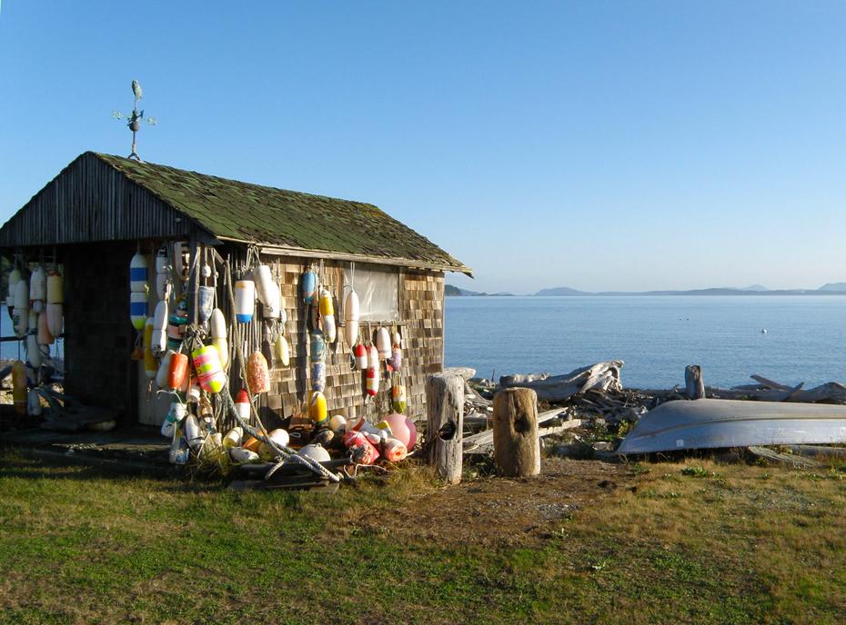 legoe bay reefnet fisherman house on lummi island